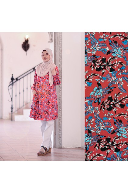Mikayla Blouse - Red Asia